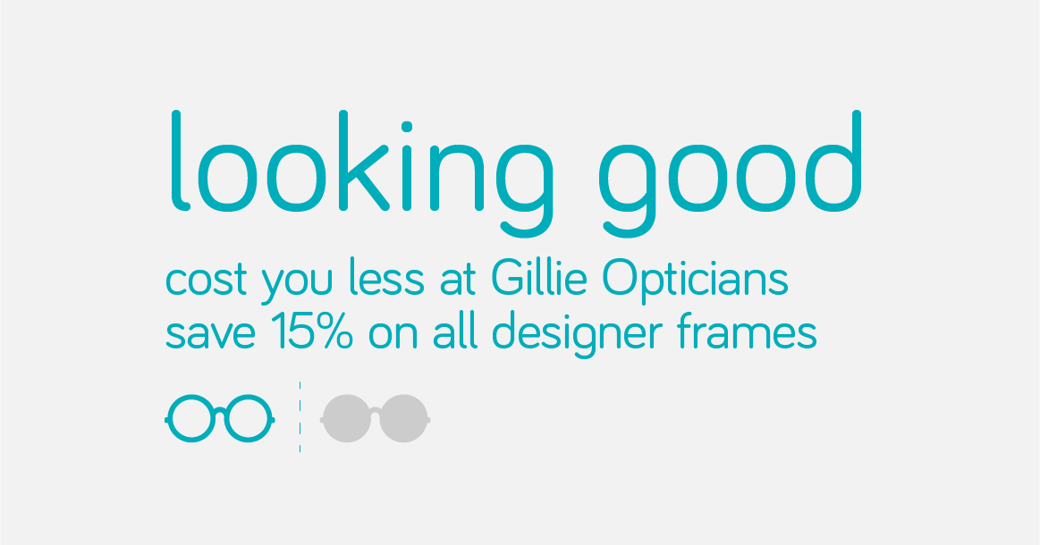 Gillie Opticians North Shields, Tynemouth, Whitley Bay, Monkseaton. Great range of low cost contact lenses, prescription glasses and sunglasses. Book your free NHS eye test call - 0191 257 0733